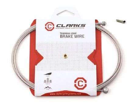 Genuine Clarks Stainless Steel Barrel / Pear Nipple Bike Brake Cable Inner Wire
